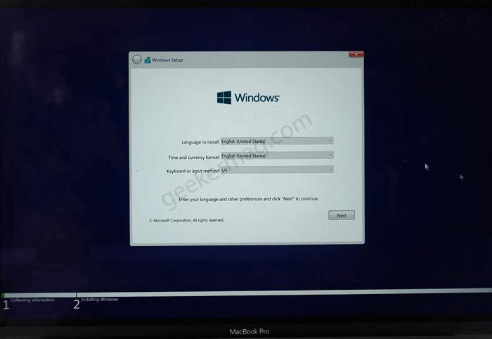 Windows 11 setup file in mac