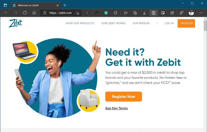 Zebit- site like klarna