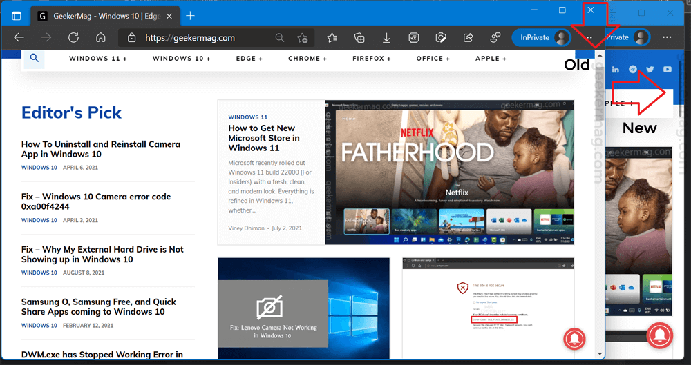 Windows style overlay scrollbars