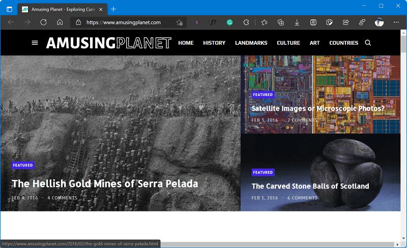 website like Bored Panda - Amusing Planet