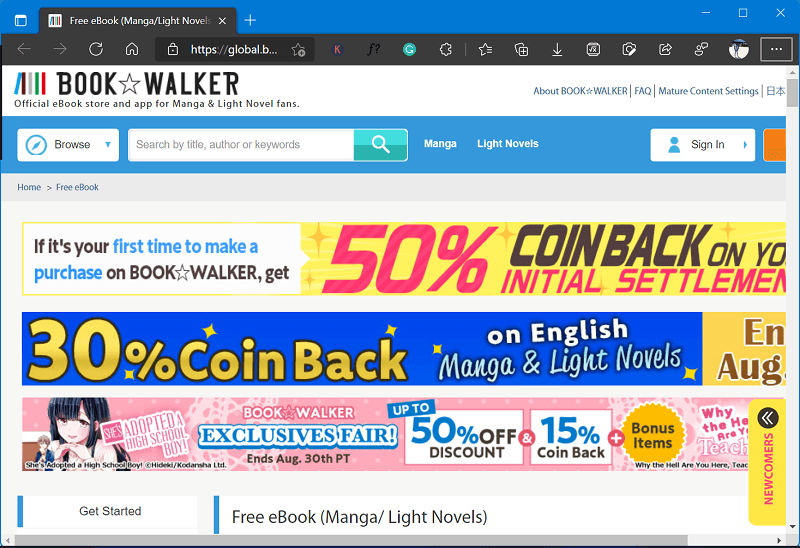 Book Walker  - Best site to read manga online