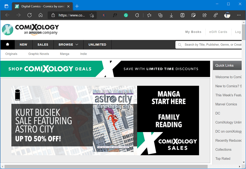 Comixology - Best site to read manga online