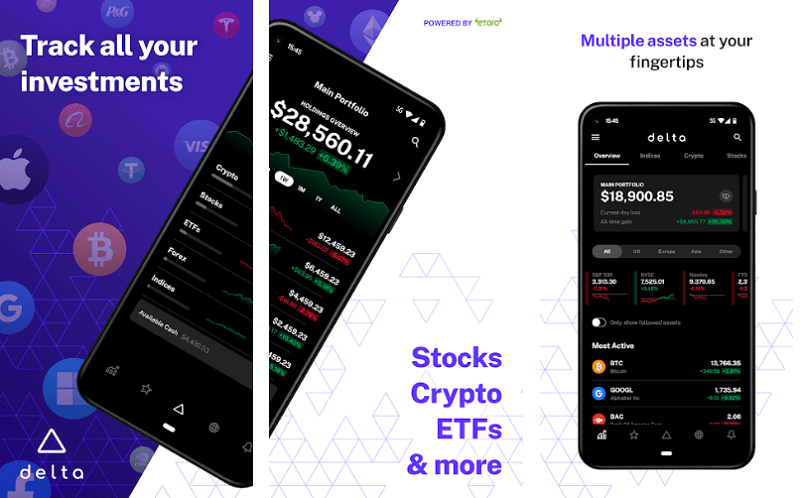 Delta - best cryptocurrency apps for android and iso