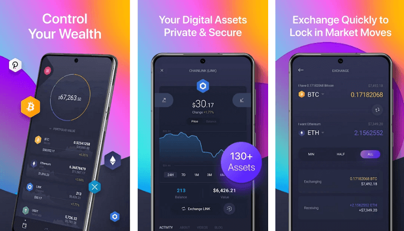 Exodus - best cryptocurrency apps for android and iso