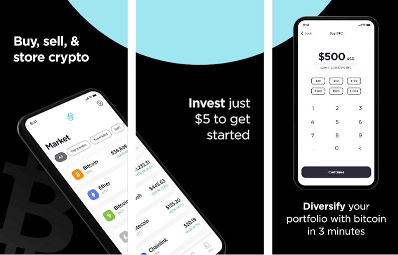 Gemini - best cryptocurrency apps for android and iso
