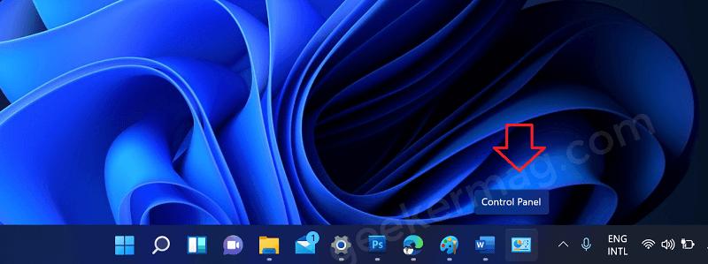 Pin Control Panel to Taskbar of Windows 11