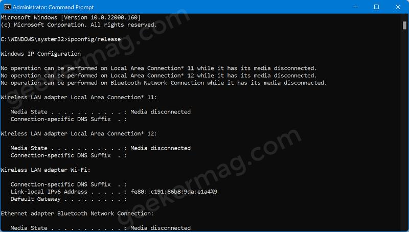 reset internet cache in windows 11