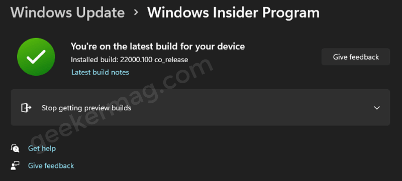 Fix: Windows 11 Insiders Unable to switch from Dev to Beta channels