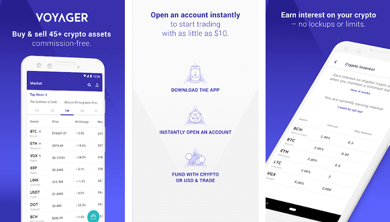 Voyager - best cryptocurrency apps for android and iso