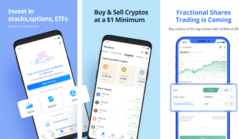 WeBull - best cryptocurrency apps for android and iso
