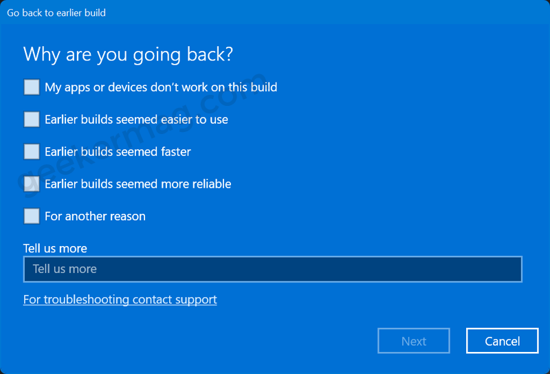 Why are you going back - Windows 11