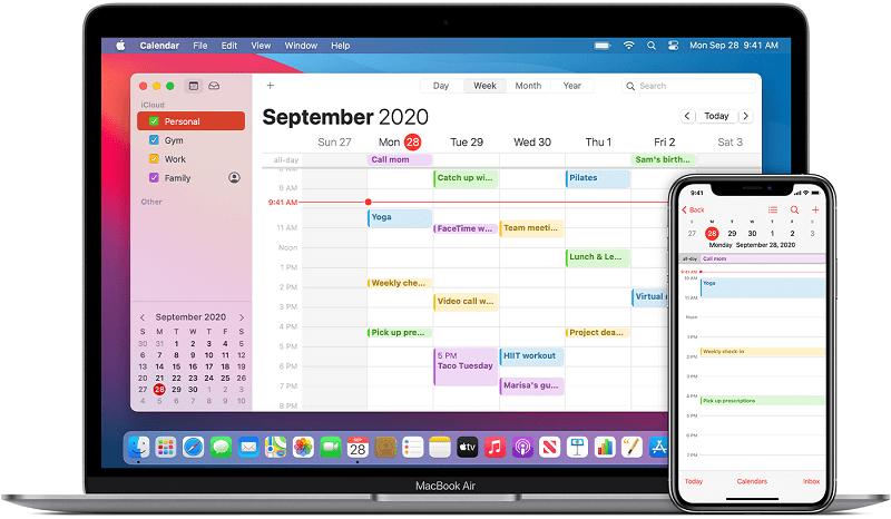 Apple calendar app for iphone
