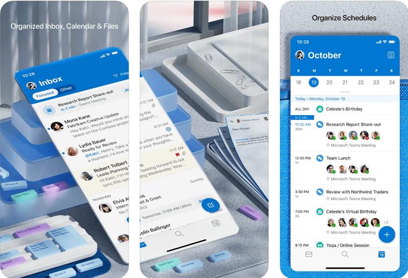 Microsoft outlook calendar app for iphone
