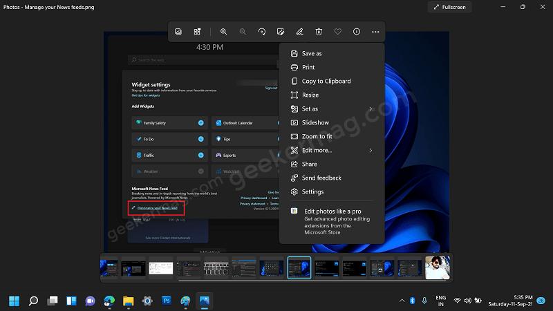 Windows 11 Redesigned Photos App