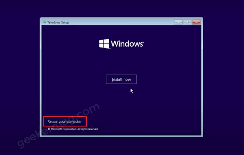 Repair your computer - Windows 11 Setup