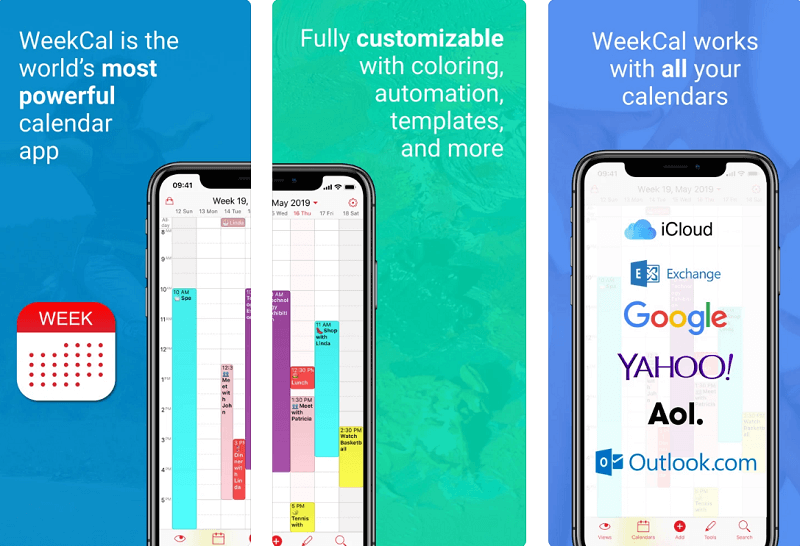 weekcal app for iphone