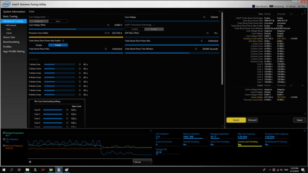 Intel Extreme Tuning Utility Intel XTU